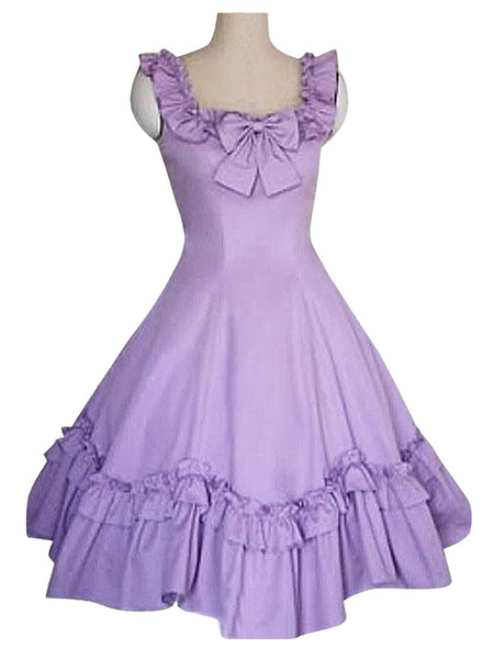 Milanoo Sweet Lolita JSK Dress Ruffles Faldas negras de Lolita Jumper