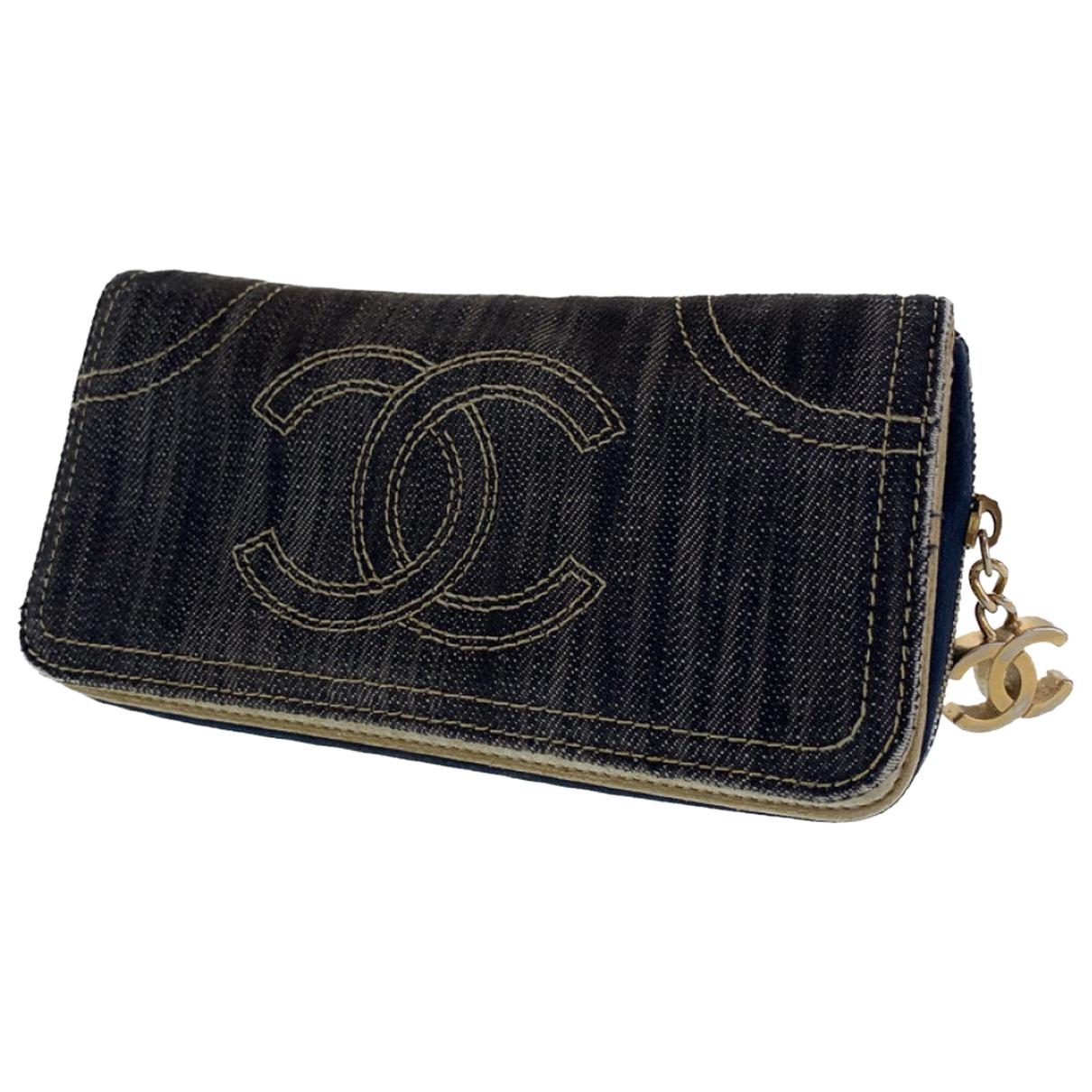 Chanel - Portefeuille   pour femme en denim