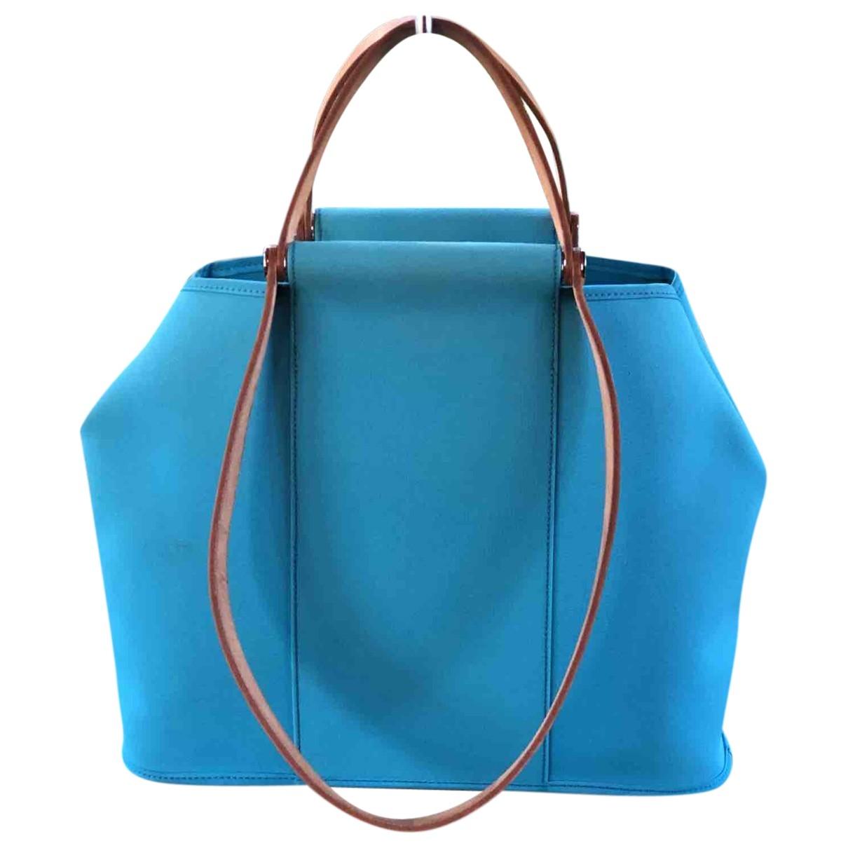 Hermès Cabag Turquoise Cloth handbag for Women \N