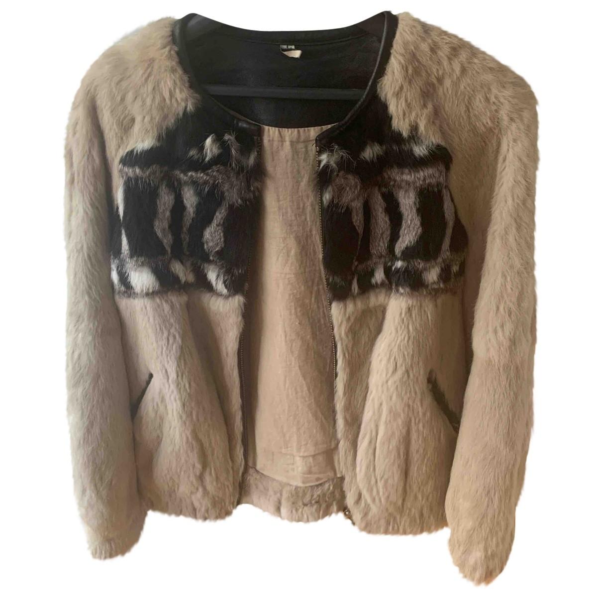 Iro - Manteau   pour femme en lapin - beige