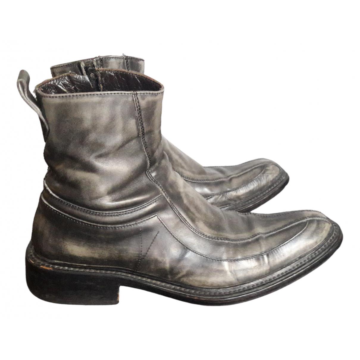 Etro - Bottes.Boots   pour homme en cuir - gris