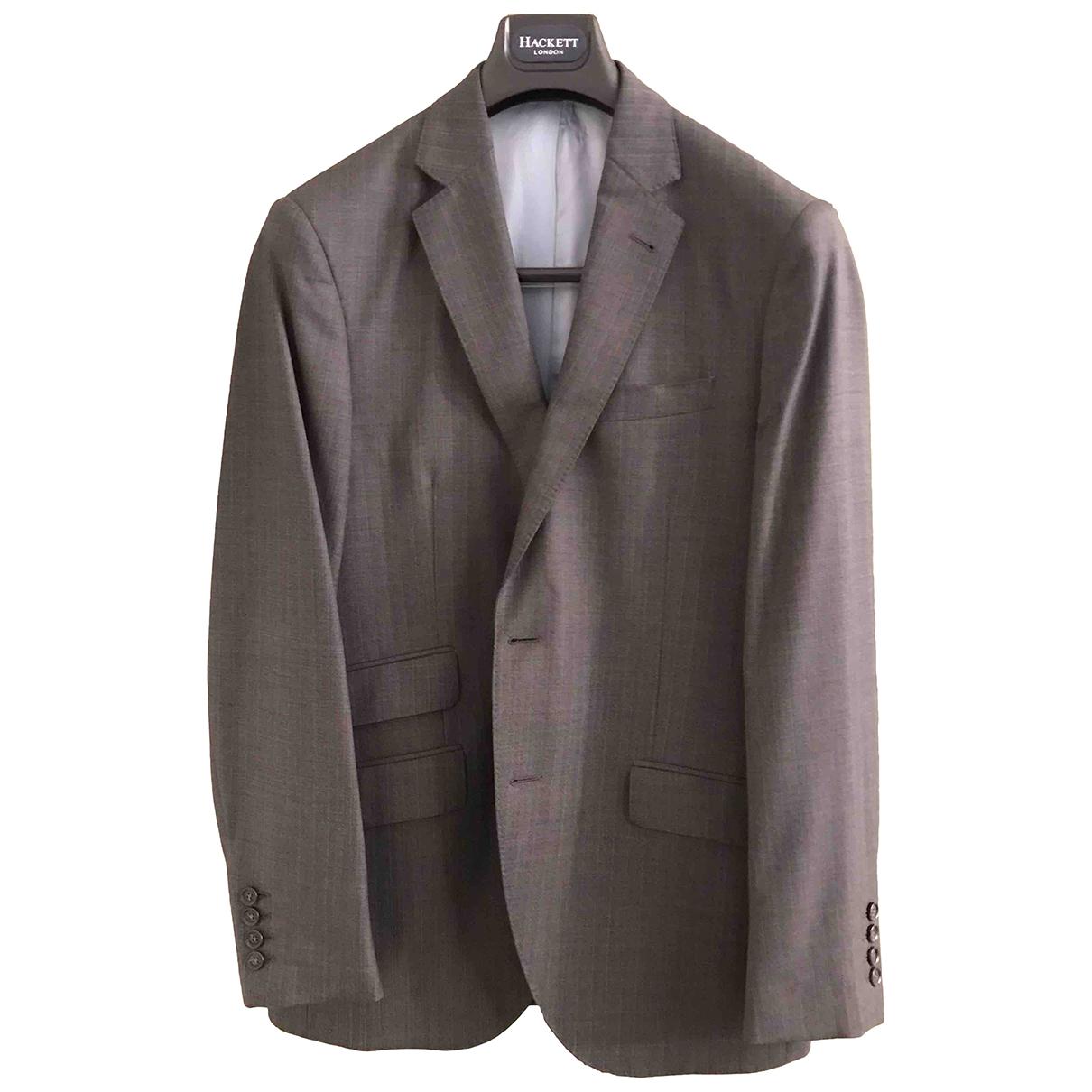 Hackett London N Grey Wool Suits for Men L International