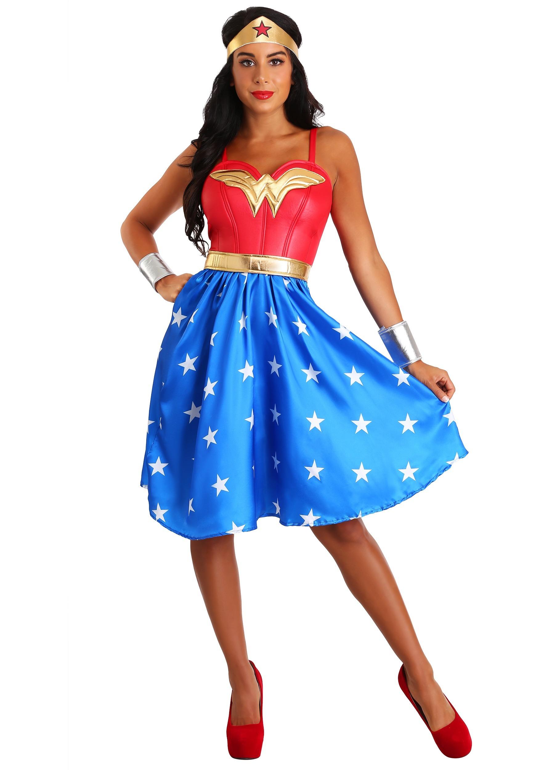 Women's Deluxe Long Dress Wonder Woman Costume