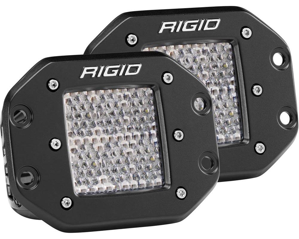RIGID Industries Diffused Flush Mount Pair D-Series Pro