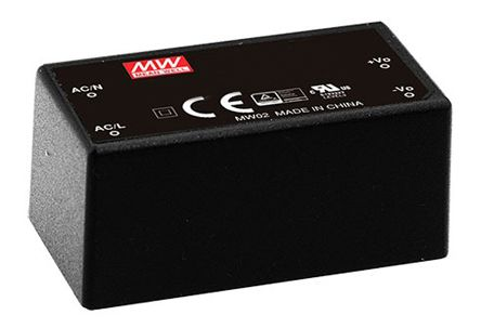 Mean Well , 10W Encapsulated Switch Mode Power Supply, 24V dc, Encapsulated