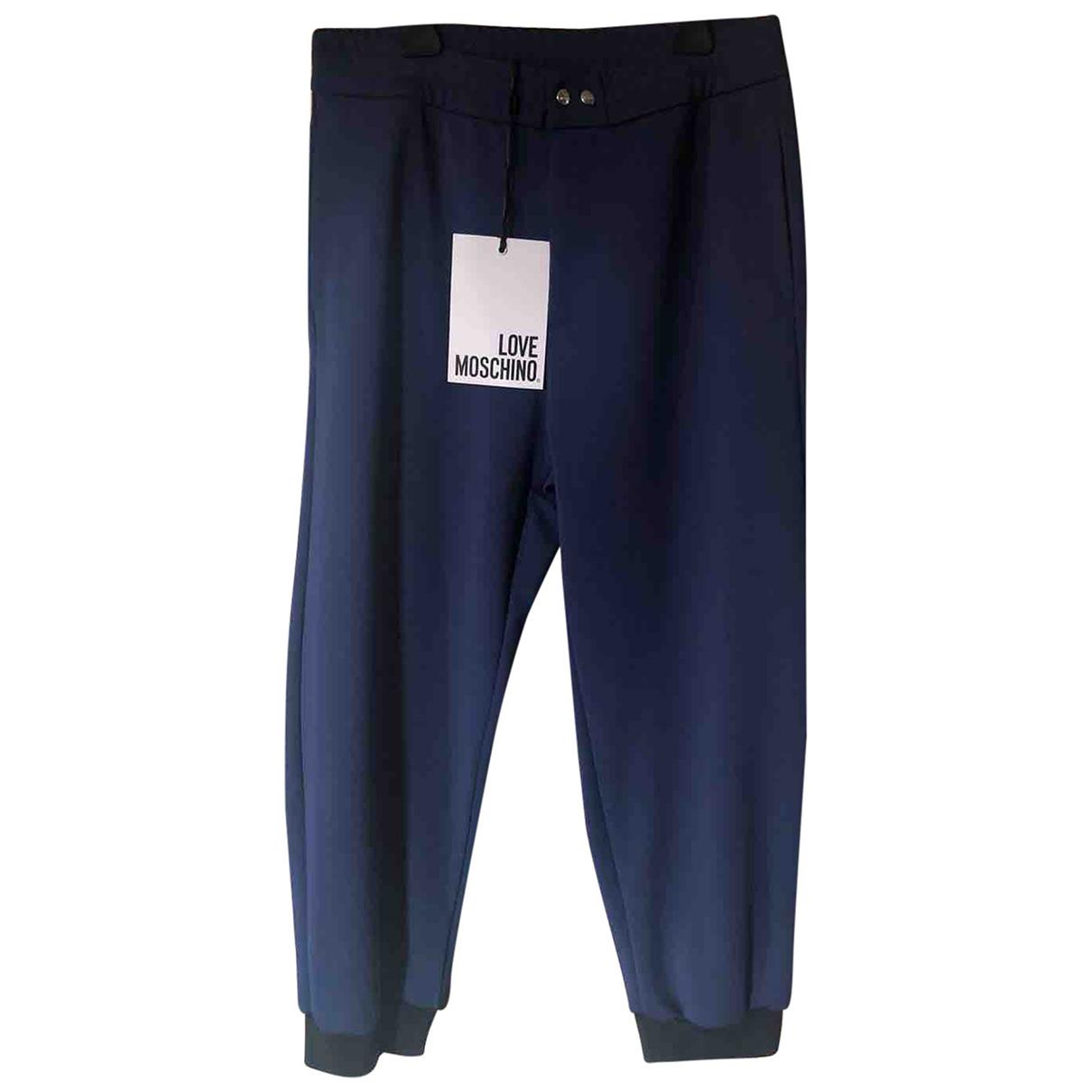 Pantalones en Poliester Azul Moschino Love