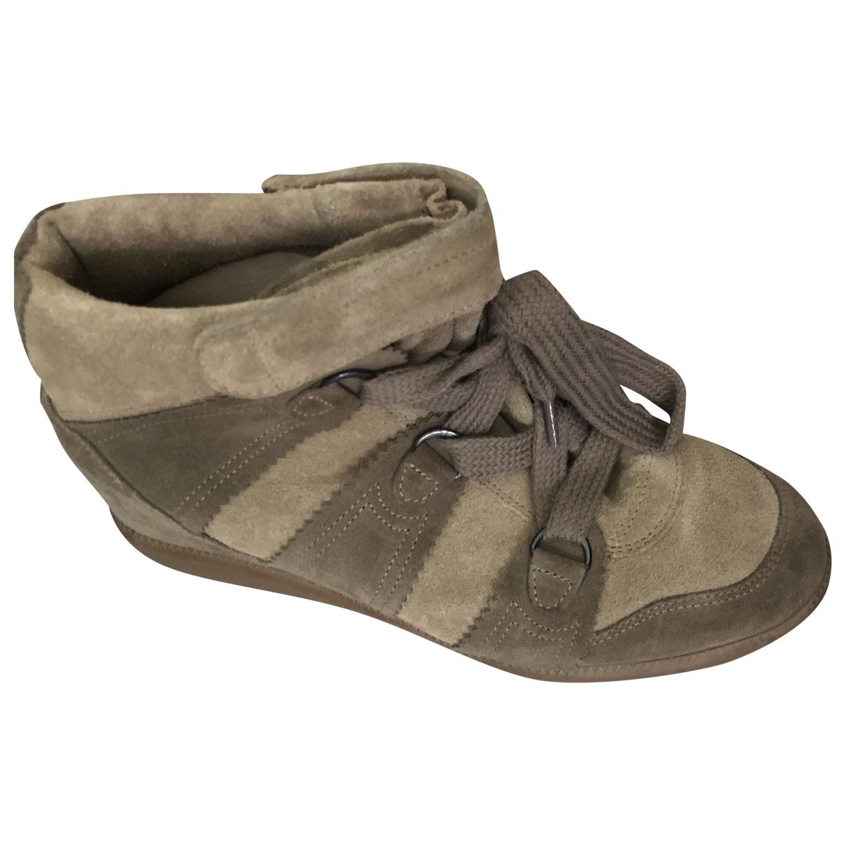 Isabel Marant \N Sneakers in  Gruen Leder