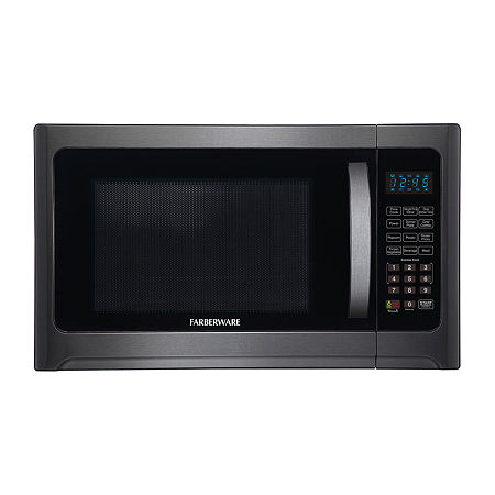 arberware Black FMO12AHTBSG 1.2 Cu. Ft 1100-Watt Microwave Oven with Grill, One Size , Stainless Steel