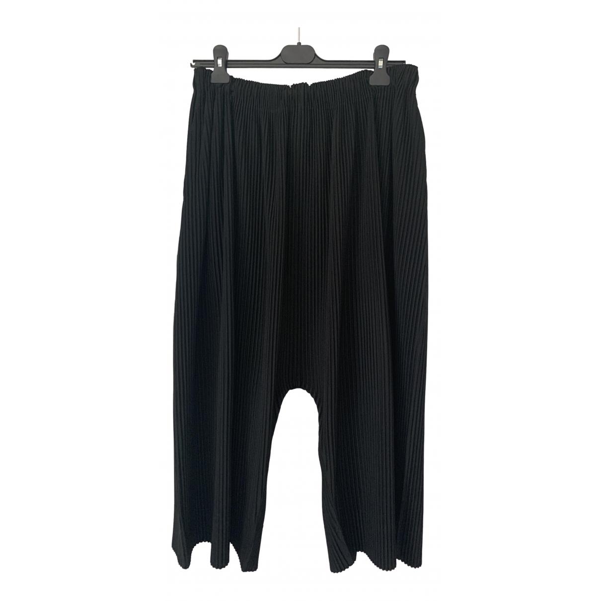 Issey Miyake \N Black Trousers for Men M International
