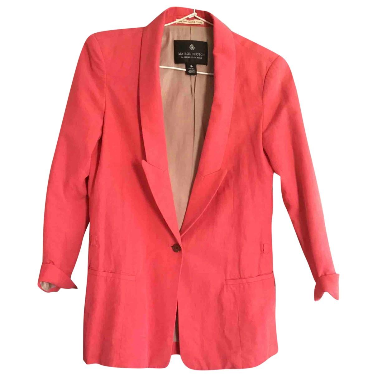 Maison Scotch - Veste   pour femme en coton - rouge