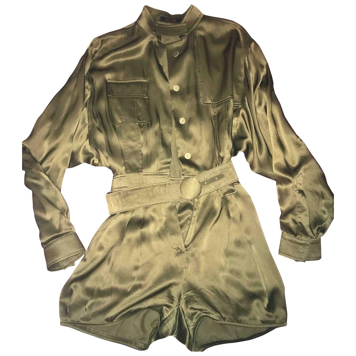 Versace - Robe   pour femme en soie - vert