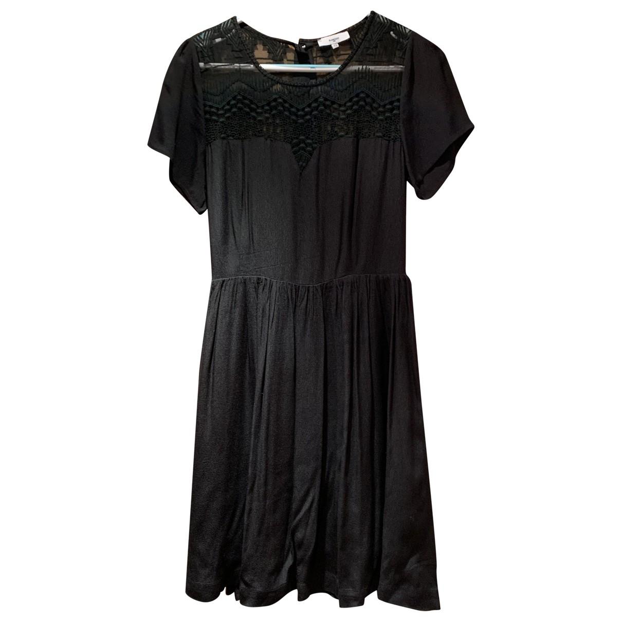 Suncoo \N Kleid in  Schwarz Seide