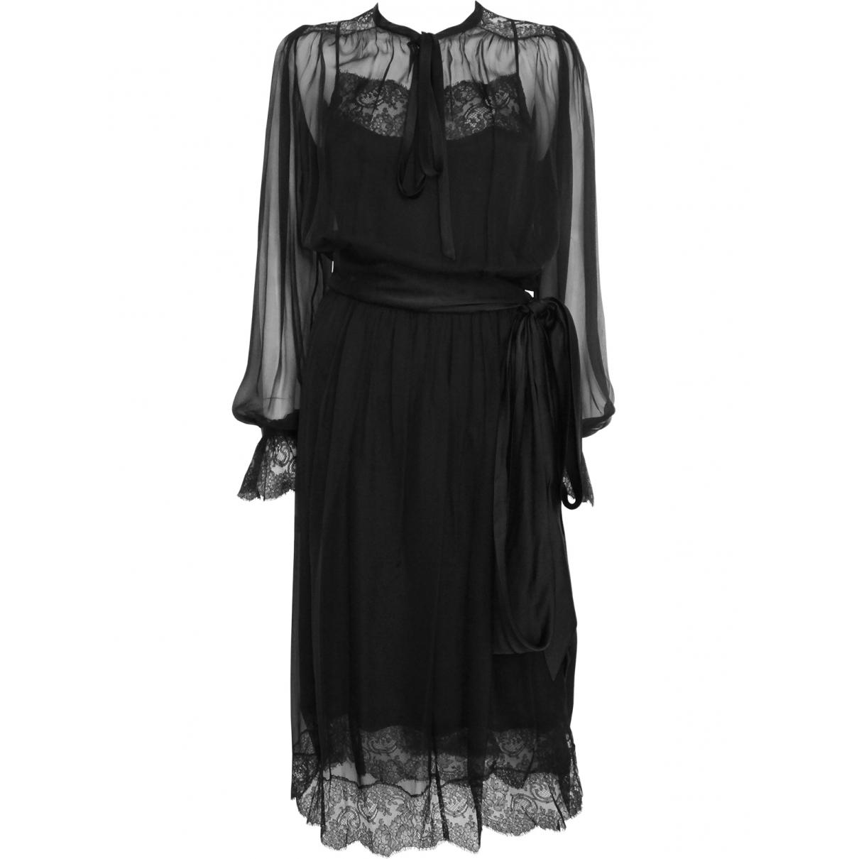 Yves Saint Laurent \N Black Silk dress for Women M International