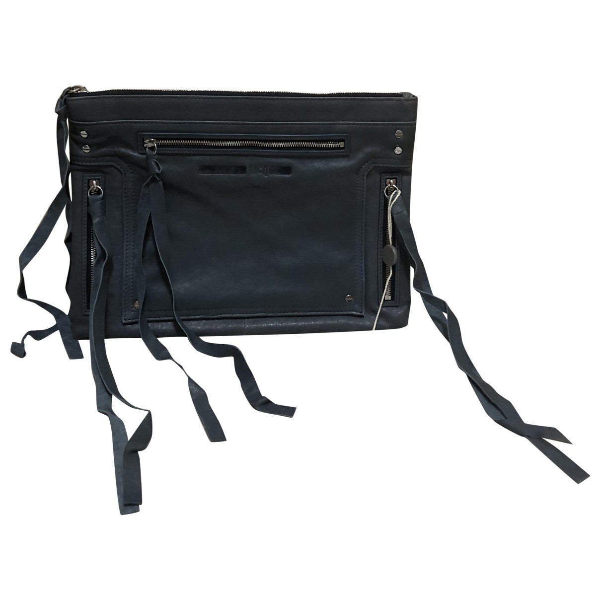 Mcq \N Grey Leather Small bag, wallet & cases for Men \N