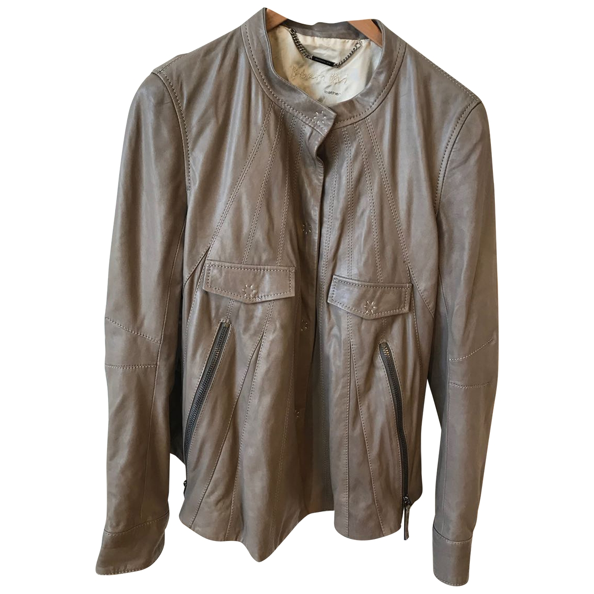 Barbara Bui \N Beige Leather jacket for Women 40 IT