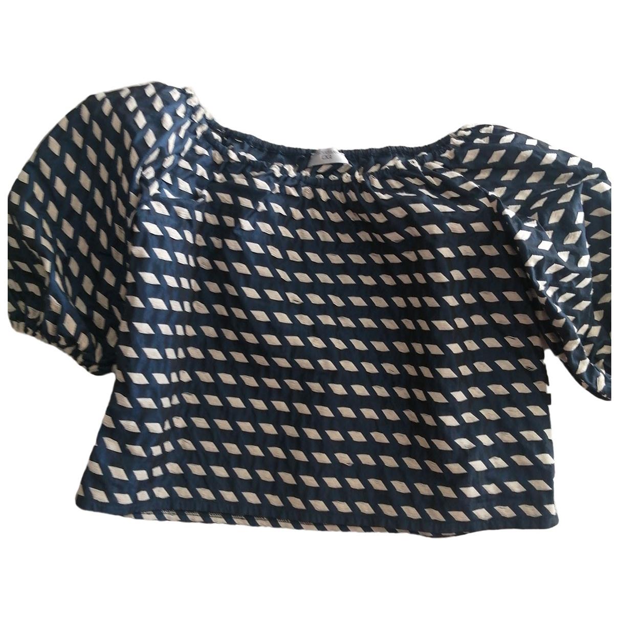 - Top   pour femme en soie - bleu