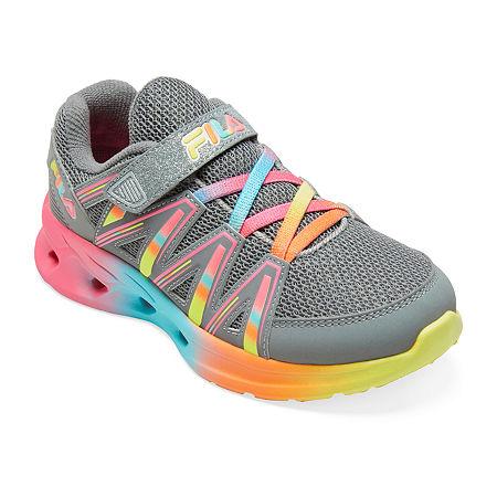 Fila Crater 8 Girls Running Shoes, 5 Medium, Gray