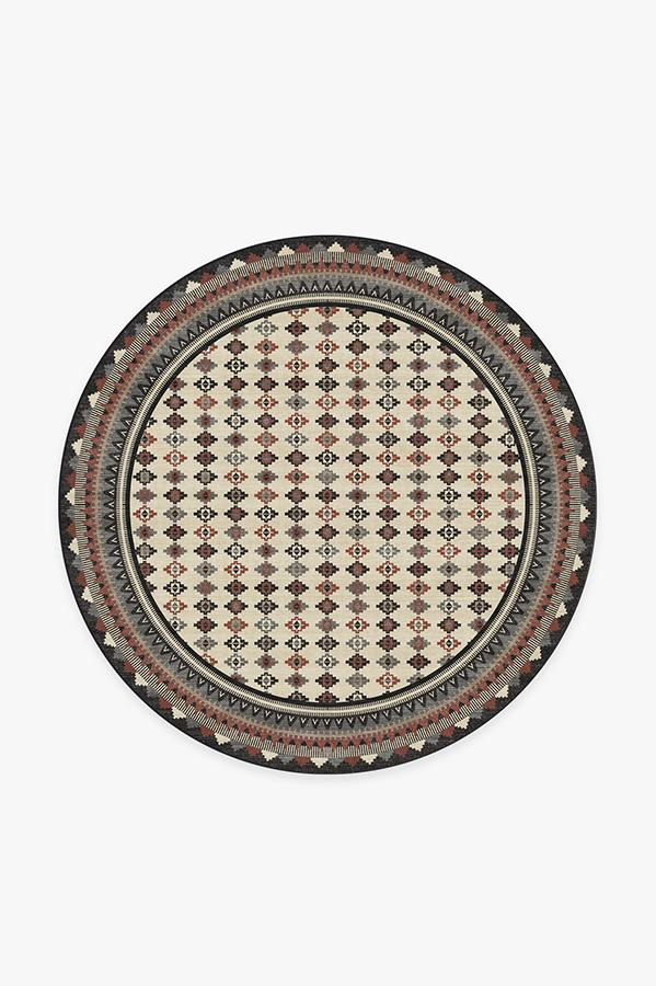 Washable Rug Cover | Noorani Sumac Rug | Stain-Resistant | Ruggable | 6' Round