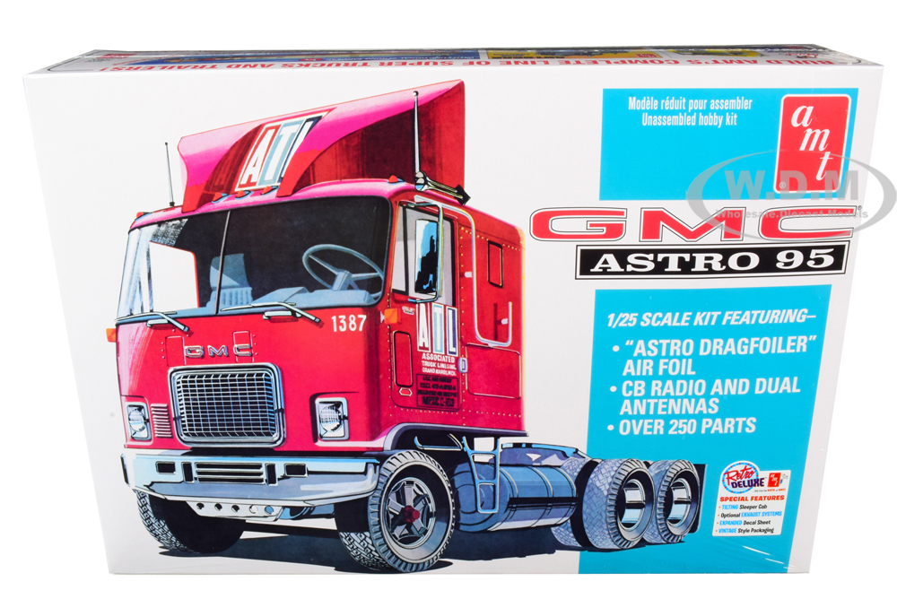 Skill 3 Model Kit GMC Astro 95 Truck Tractor 1/25 Scale Model by AMT