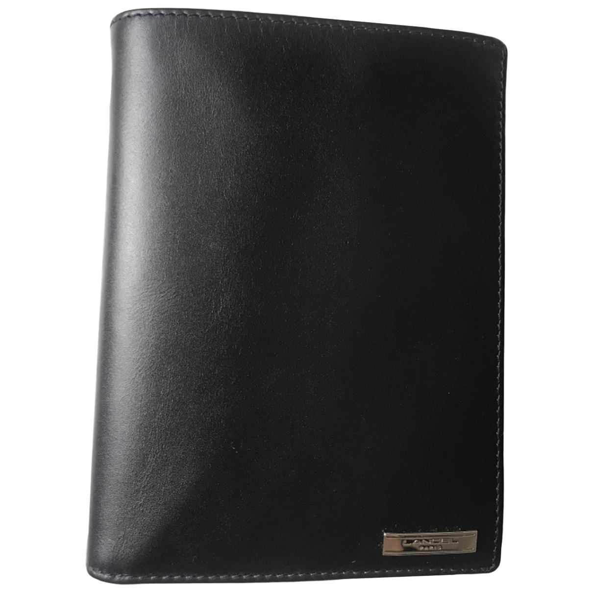 Lancel \N Black Leather Small bag, wallet & cases for Men \N