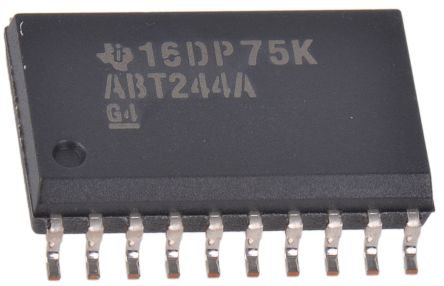 Texas Instruments SN74ABT244ADWR Octal-Channel Buffer & Line Driver, 3-State, 20-Pin SOIC (5)
