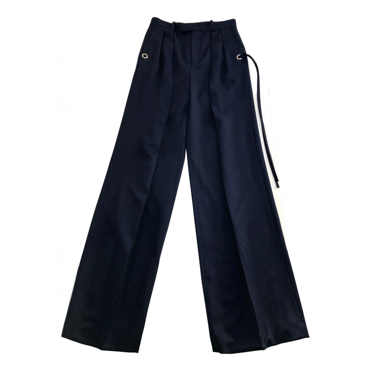 J.w. Anderson N Navy Wool Trousers for Women 8 UK