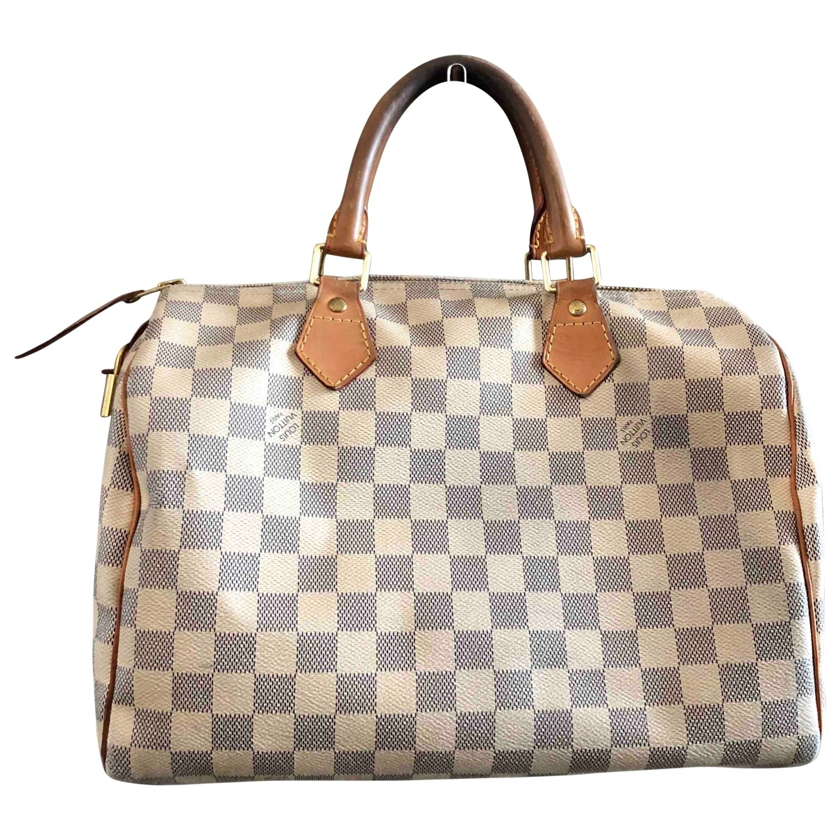 Louis Vuitton Speedy Handtasche in  Beige Leinen