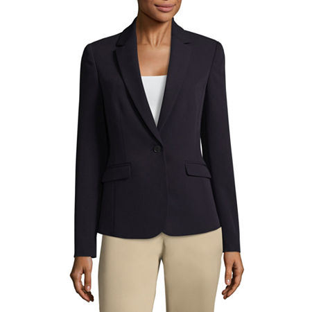 Worthington Essential Flap Pocket Blazer, Petite X-small , Blue
