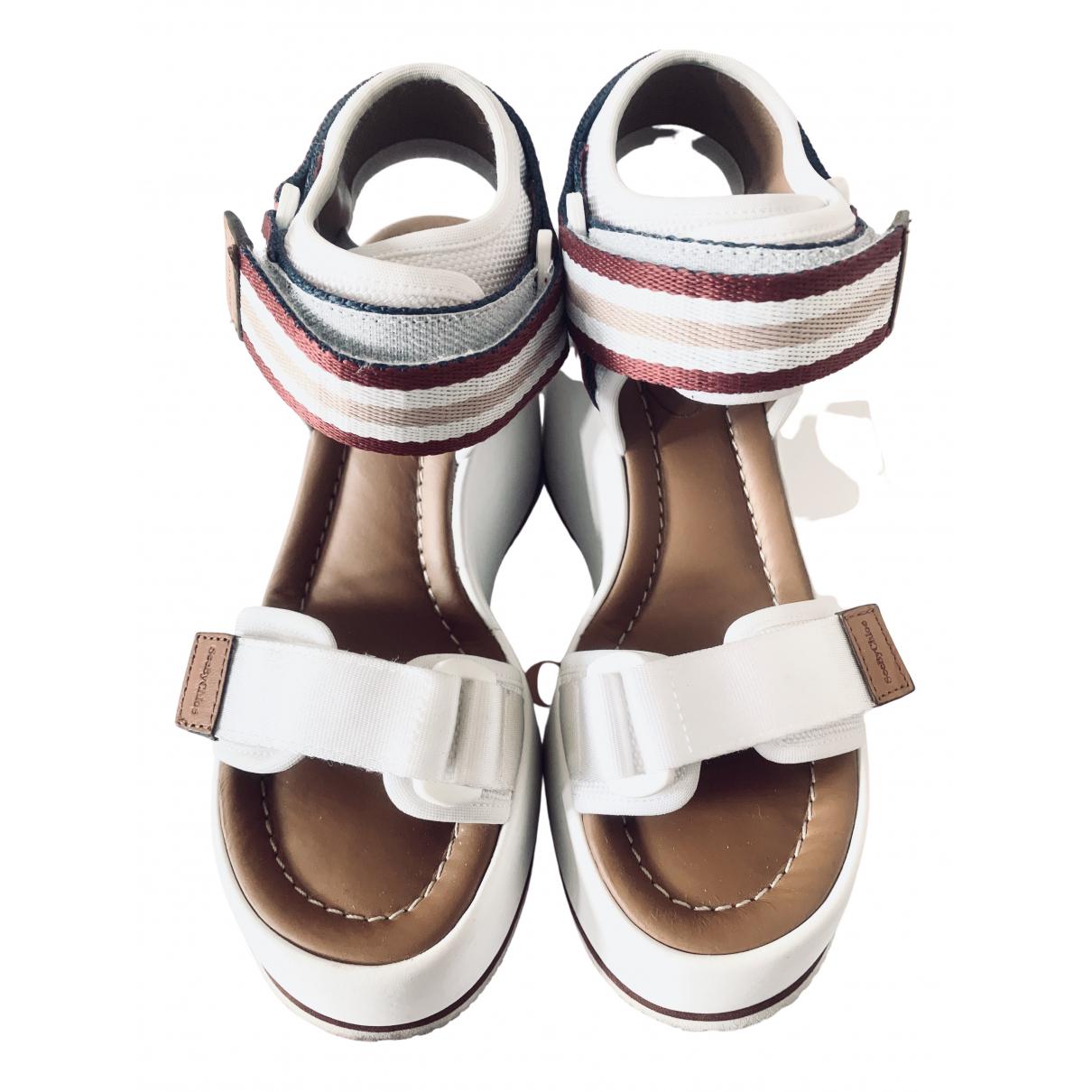 See By Chloe - Sandales   pour femme en cuir - blanc
