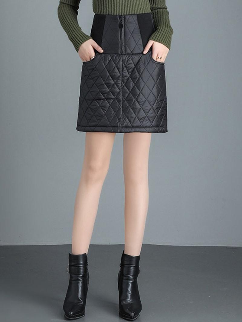 Ericdress A-Line Mini Plain Skirt