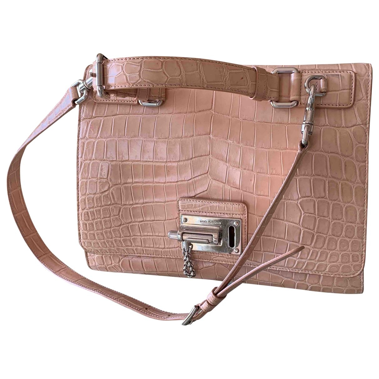 Dolce & Gabbana \N Pink Crocodile handbag for Women \N