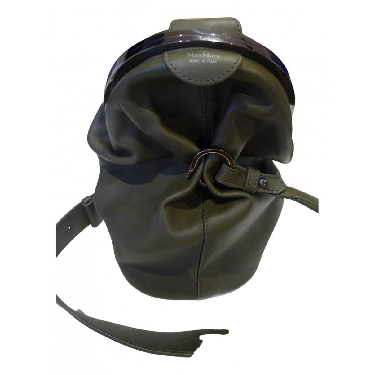 Max Mara \N Handtasche in  Khaki Leder