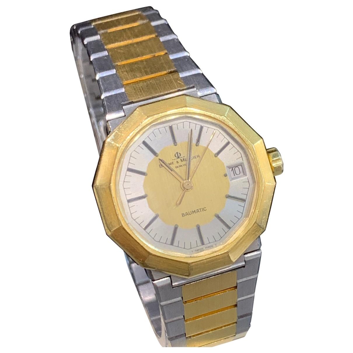 Baume Et Mercier \N Uhr in Gold und Stahl