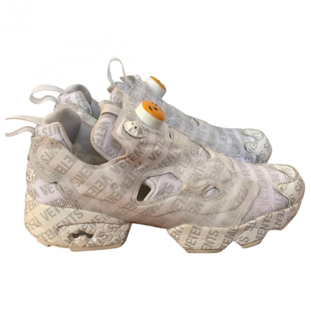 Reebok X Vetements \N Sneakers in  Weiss Leder