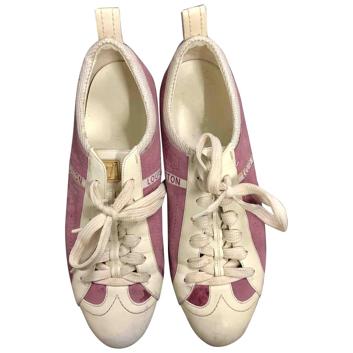 Louis Vuitton - Baskets   pour femme en suede - rose