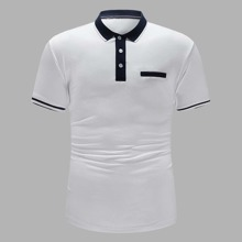 Men Contrast Trim Polo Shirt
