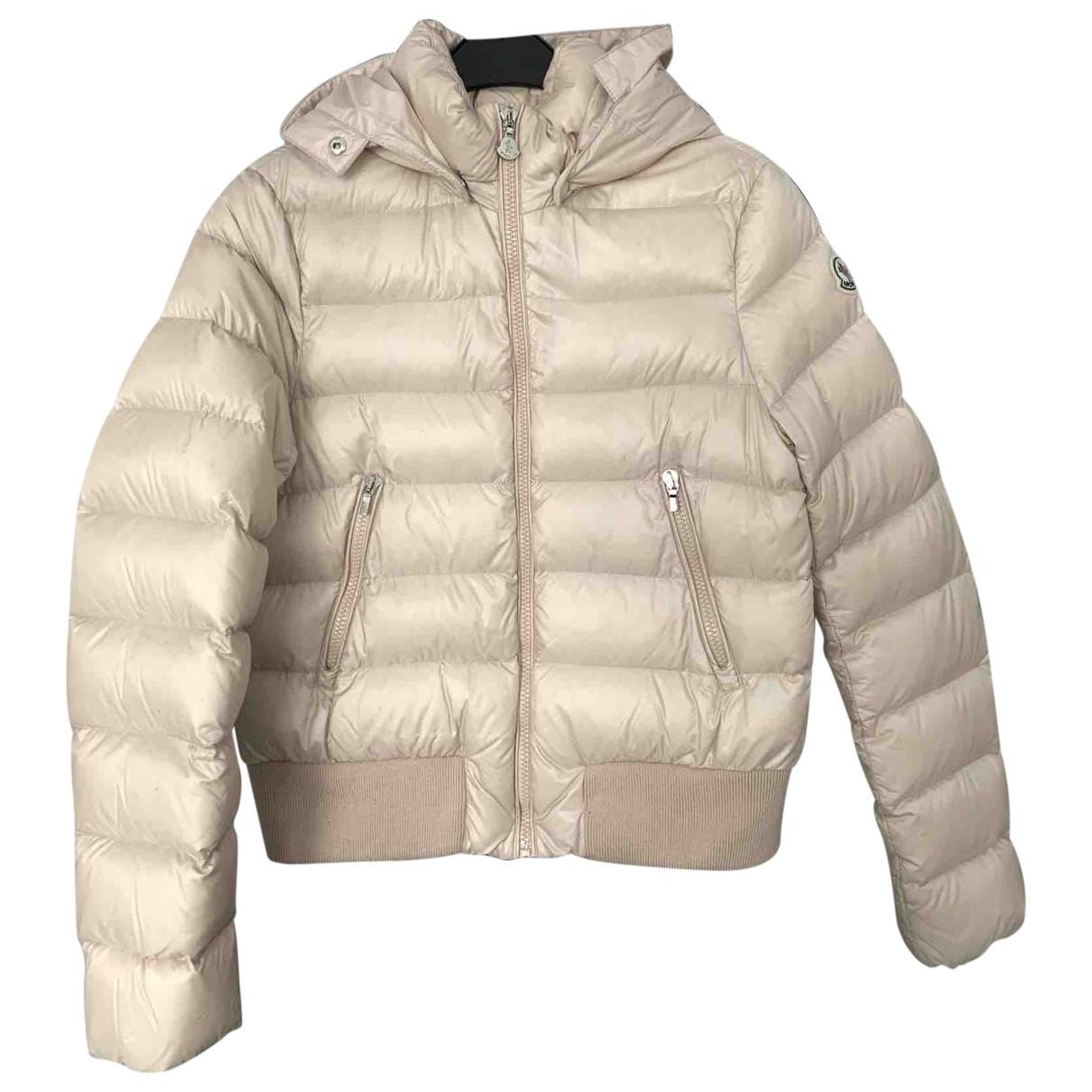 Moncler Hood Pink Silk jacket & coat for Kids 14 years - S UK