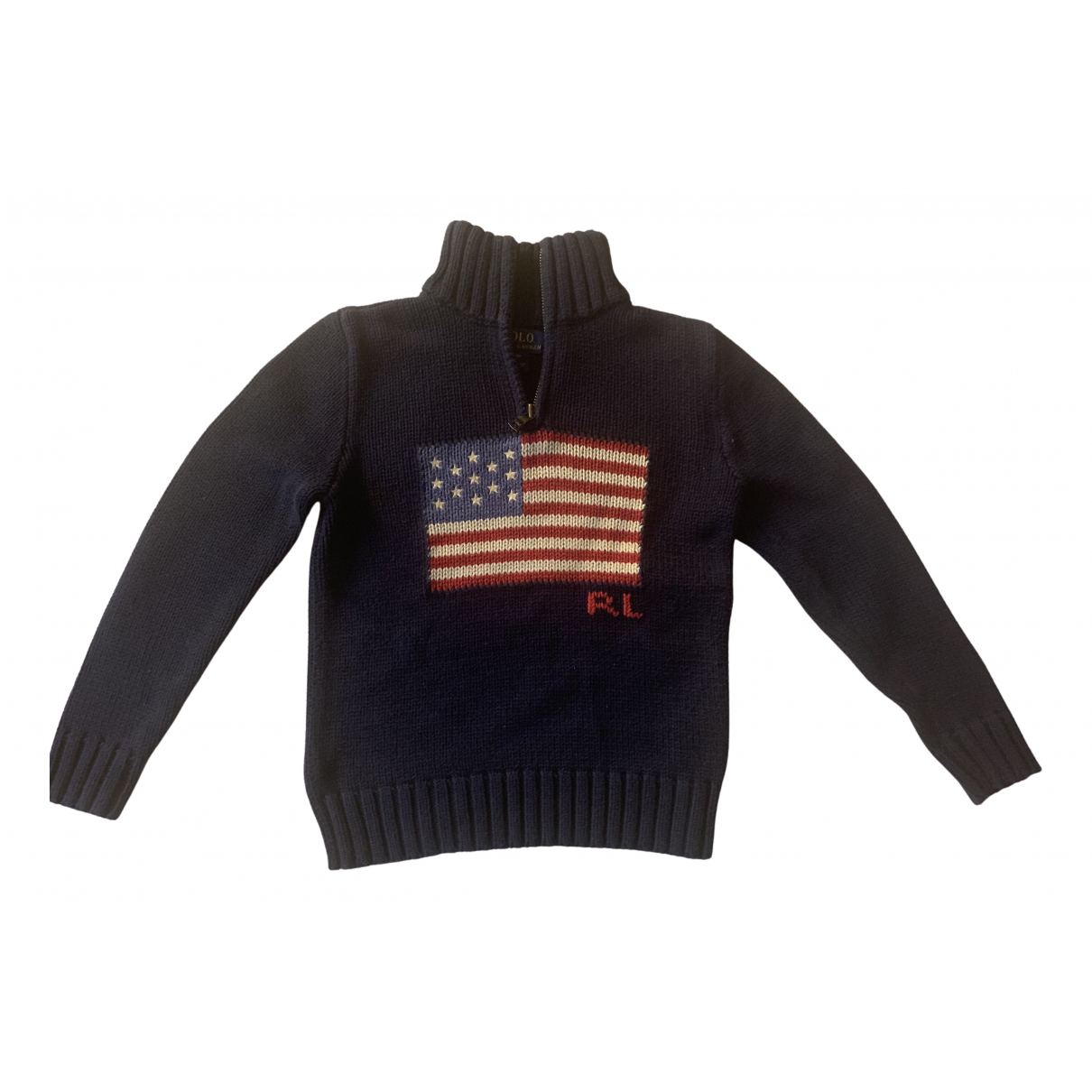 Polo Ralph Lauren \N Pullover, StrickJacke in  Blau Baumwolle