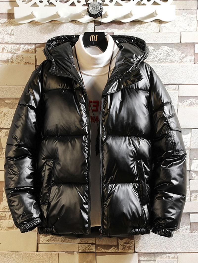 Ericdress Hooded Plain Zipper Zipper Casual Down Jacket