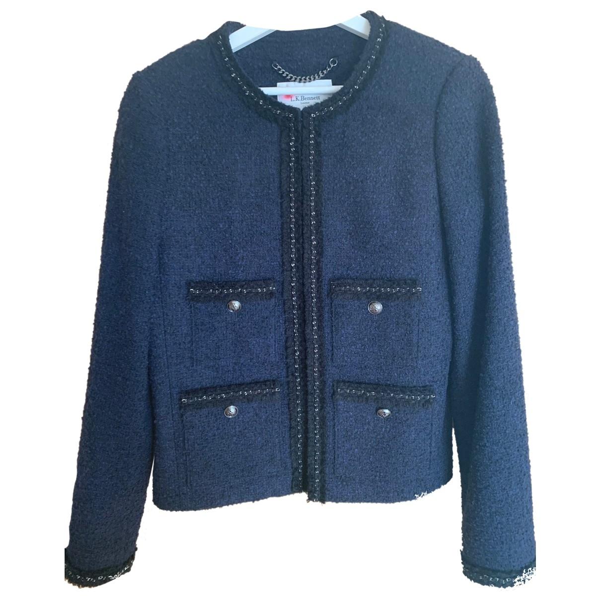 Lk Bennett - Veste   pour femme en tweed - bleu