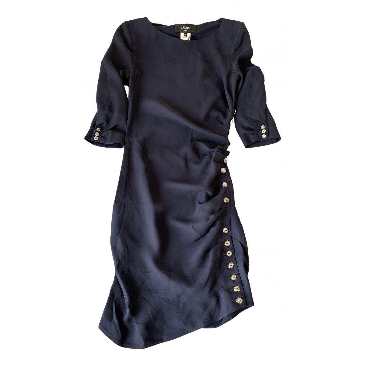 Azzaro \N Kleid in  Blau Seide