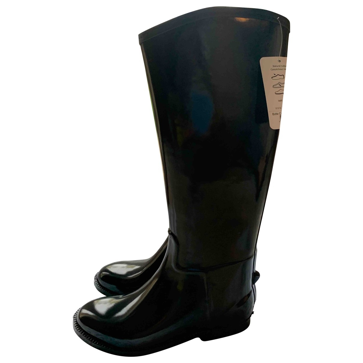 Non Signé / Unsigned \N Black Rubber Boots for Women 38 EU