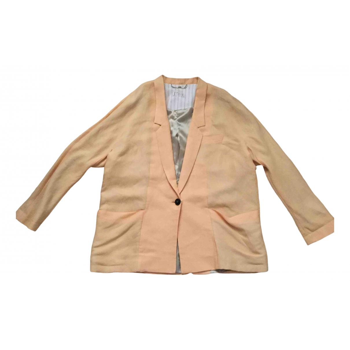 Max & Co - Veste   pour femme en lin - orange