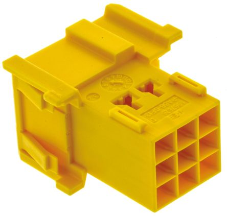 TE Connectivity , Timer Automotive Connector Plug 3 Row 9 Way, Yellow (5)