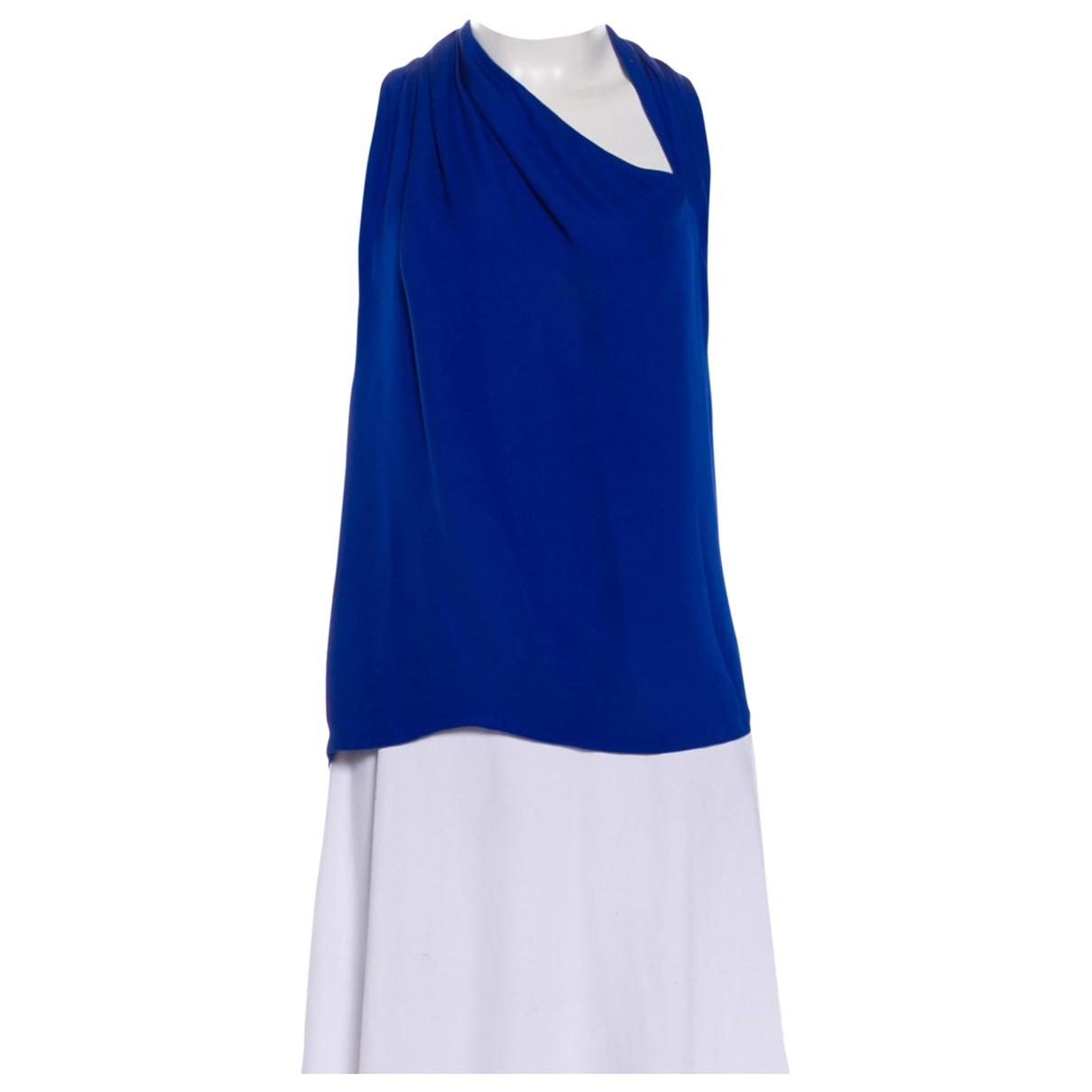 Gucci - Top   pour femme en soie - bleu