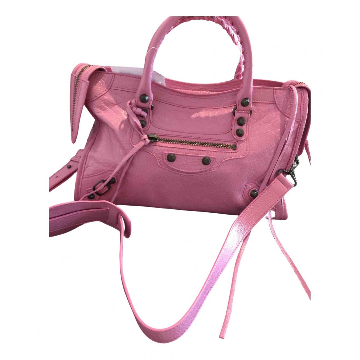 Balenciaga City Handtasche in  Rosa Leder