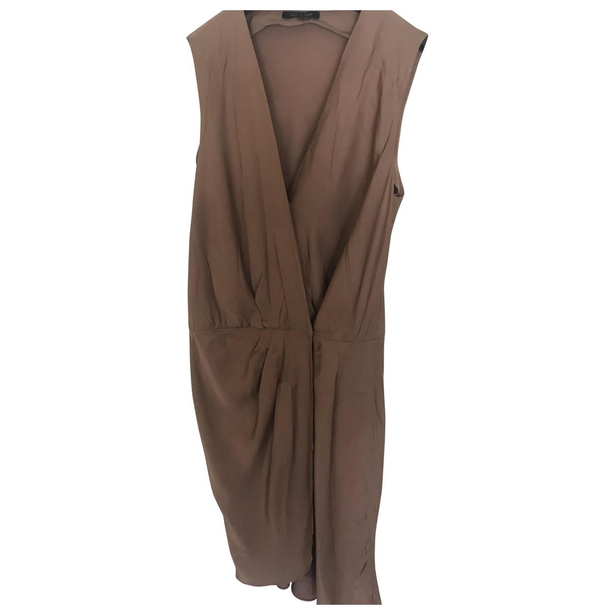 Tara Jarmon \N Kleid in  Beige Seide