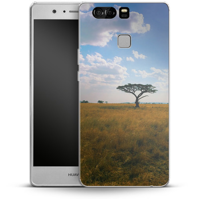 Huawei P9 Silikon Handyhuelle - Tanzanian Savanna von Omid Scheybani