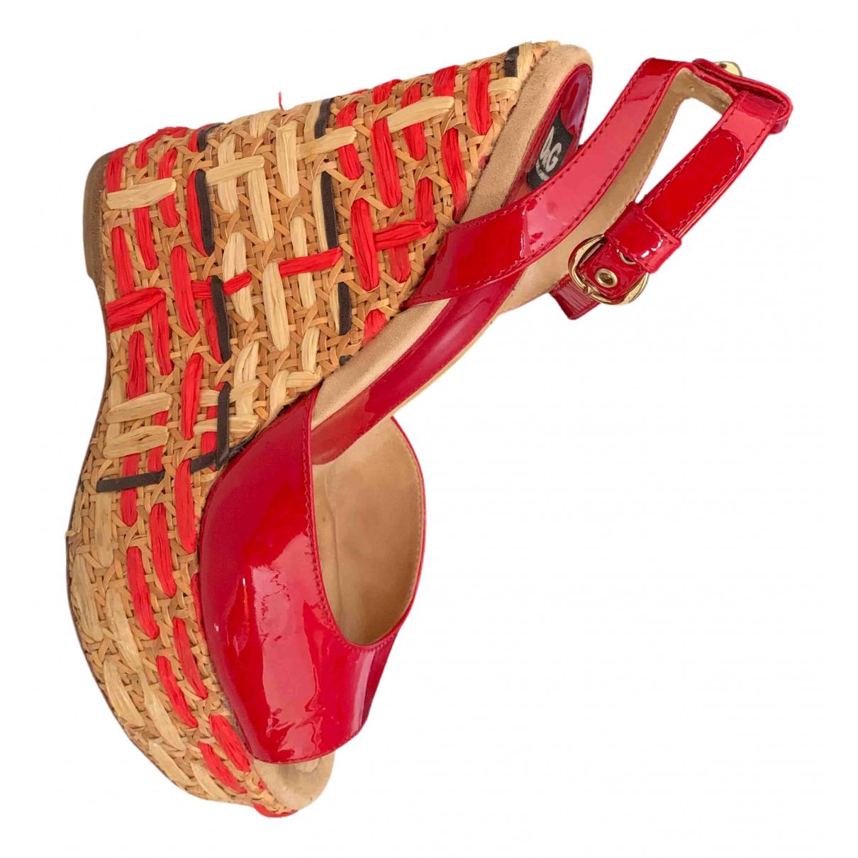 D&g \N Sandalen in  Rot Leder