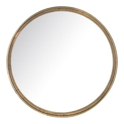 Winchester Collection ZY-1008-01 Small Mirror with Aluminum Frame in Yellow